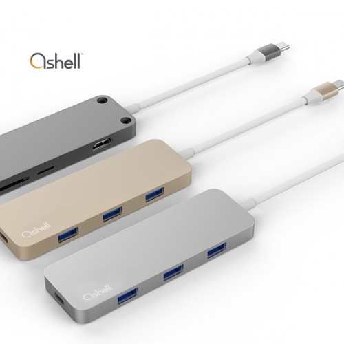Ashell USB 3.0 Type-C Hub 7 in 1